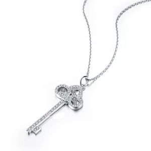 .925 Sterling silver key Pendant necklace